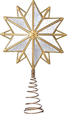 Artiflr 15.2 Inch Christmas Star Tree Topper Christmas Decorations, Christmas Tree Topper Gold Star Treetop Decoration for Ch