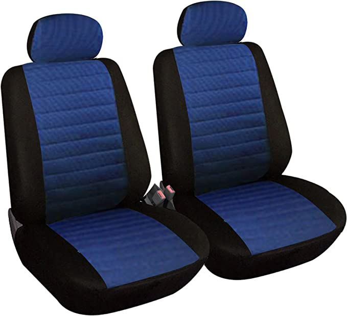 Esituro Scsc0039 2er Einzelsitzbezug Universal Sitzbezüge Für Auto Schonbezug Schoner Aus Polyester Blau Auto