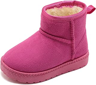 Girl's and Boys Winter Snow Boots Fur Outdoor Slip-on Boots (Toddler/Little Kids)