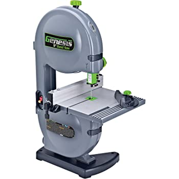"Genesis GBS900 9"" 2.2 Amp Band Saw with Dust Port, Tilt Table, Miter Gauge, and Rip Fence"