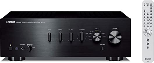Yamaha A-S301BL Natural Sound Integrated Stereo Amplifier - Black (Renewed)