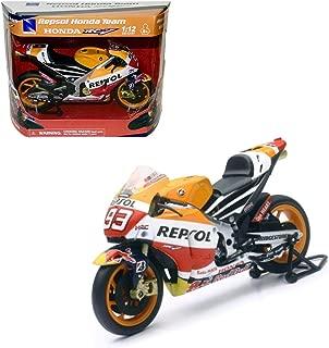 New Ray New 1:12 Motorcycles Collection - Orange Honda REPSOL Team - Honda RC213V Marc Marquez #93 Model Car Toys