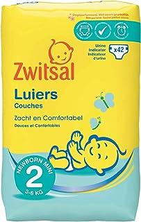 Zwitsal Luiers maat 2 (3-6 kg), langdurig droog met urine indicator, 252 luiers - Voordeelverpakking