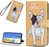 Huawei P30 H�lle Leder Tasche PU Leder H�lle Gemalt Muster Flip Brieftasche Kartenhalter Magnetschnalle St�nder Sto�fest Kratzfest Sto�stange Handyh�lle Shar Pei