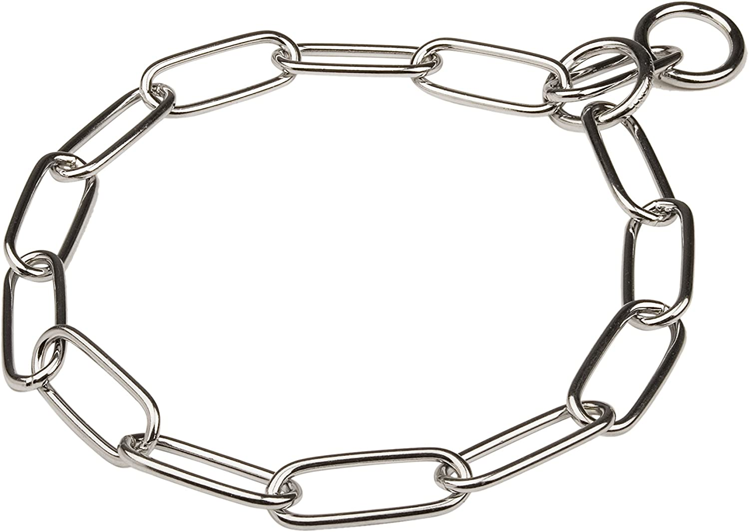 Herm Sprenger Chrome Plated Long Link Chain Collar 4 mm x 33 Inches