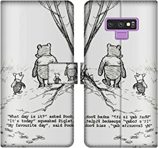 DISNEY COLLECTION Wallet Case with Strap Samsung Galaxy Note 9 6.4in Wallet Case Winnie The Pooh Drawings Team