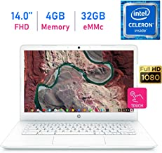 HP Chromebook 14-inch Touchscreen (1920x1080) FHD IPS WLED-Backlit Display Laptop PC, Intel Dual Core Celeron N3350 up to 2.4GHz, 4GB LPDDR4 RAM, 32GB eMMC, B&O Play, Webcam, Bluetooth, Chrome OS