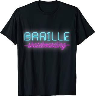 Best braille skateboarding merch Reviews