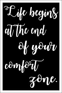 Spitzy's Life Begins at The End of Your Comfort Zone - Motivational Poster (12