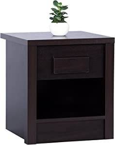 DeckUp Muvo BR888343 Wooden Side/End Table with Matte Finish,16x16x16 Inches (Dark Wenge)