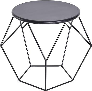 homcom Tavolino da caffè Salotto Design Nordico Minimalista Geometrico Ampio Piano, Acciaio, 54x54x44cm