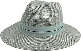 Ayliss Straw Panama Hat Short Brim Trilby Fedoras for Women/Men