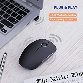 VicTsing Wireless Mouse, 2.4G Noiseless Mouse with USB Receiver - Portable Computer Mice for Chromebook, Notebook, PC...