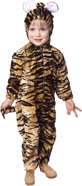 RG Costumes 70089T Toddler Tiger Pajama Velboa Costume