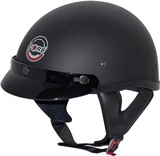 Core Cruiser Shorty Half Helmet (Flat Black, X-Large)