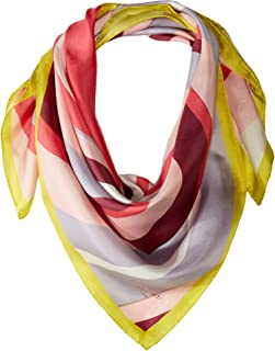 Kate Spade New York Women's Concentric Spade Silk Square Scarf