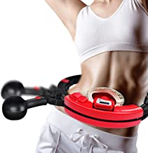 COREZONE Weight Hula Hoops, Hula Hoop for Adults Fitness Weight Loss Auto-Counting Smart Hula Hoops with 360 Degree Massag...