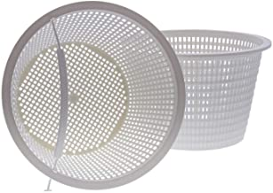 """U.S. Pool Supply Swimming Pool Plastic Skimmer Replacement Basket (Set of 2) - Skim Remove Leaves, Bugs and Debris - 8"""" Top, 5.5"""" Bottom, 5"""" Deep - Not Weighted"""