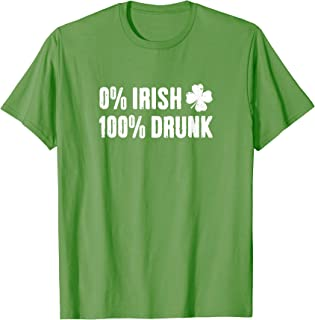 Best 0 irish 100 drunk t shirt Reviews
