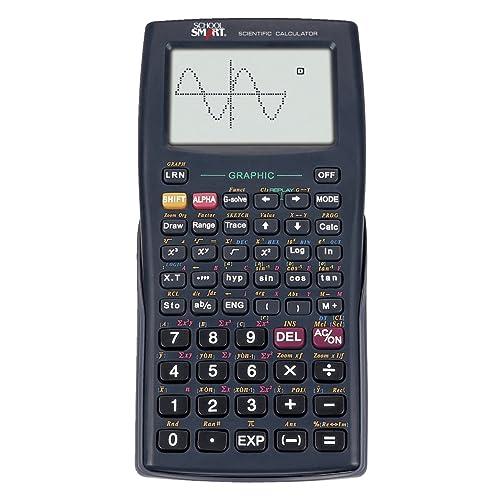 School Smart Graphic Calculator, 10 + 2 Dot Matrix , black - CS-121