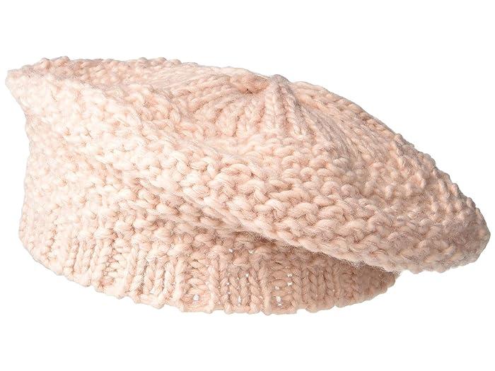 Women's Vintage Hats | Old Fashioned Hats | Retro Hats San Diego Hat Company KNH5014 Knit Beret Blush Knit Hats $33.08 AT vintagedancer.com