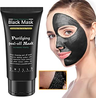 Blackhead Remover Mask,black mask,Charcoal Peel Off Mask, Deep Cleansing Facial Mask for Face & Nose For All Skin Types