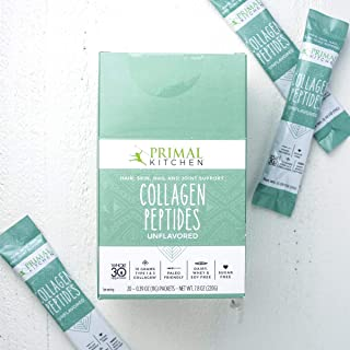 Primal Kitchen Collagen Peptides 20 Pack On The Go Single Servings, Whole 30 Approved (Unflavored)