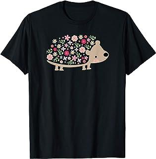 NOUVEAU! Graphique mignon hérisson fleur coloré T-Shirt