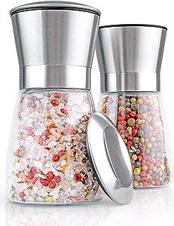 Salz und Pfeffer Mühle - Gewürzmühle 2er Set mit Verstell