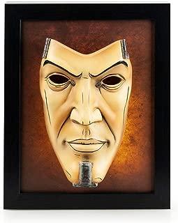 Borderlands 2 Handsome Jack Wall Art | Shadow Box Hand-Painted Resin Mask Display