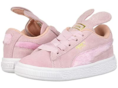 Puma Kids Suede Bunny Slip-On (Toddler) (Pale Pink/Coral Cloud/Puma Team Gold) Girls Shoes