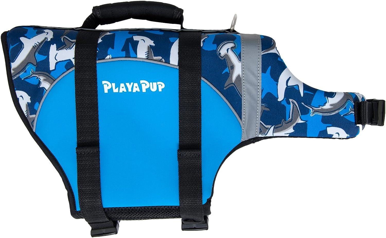 PlayaPup Dog Life Jacket, Large, Surf bluee