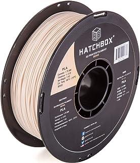 HATCHBOX PLA 3D Printer Filament, Dimensional Accuracy +/- 0.03 mm, 1 kg Spool, 1.75 mm, Beige