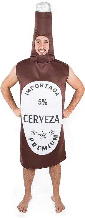 Costumizate! Disfraz de Botella de Cerveza Adulto Especial para Fiestas de Disfraces y Carnaval Talla Unica