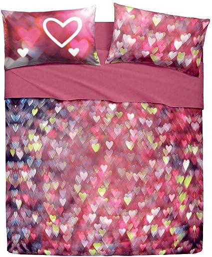 Lenzuola Copriletto Love Hearts Bassetti Completo Matrimoniale Due Piazze N902 Amazon It Casa E Cucina