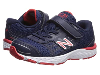 New Balance Kids 680v5 (Infant/Toddler) (Pigment/Velocity Red) Boys Shoes