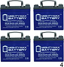 Mighty Max Battery 12V 35Ah Gel Battery Replacement for Inverters, Signage - 4 Pack Brand Product