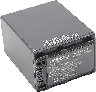 INTENSILO Batería Li-Ion 3300mAh (8.4V) para videocámaras Sony HXR-NX30 HXR-NX30E HXR-NX70 HXR-NX70E sustituye NP-FV100 NP-FV60 NP-FV30.