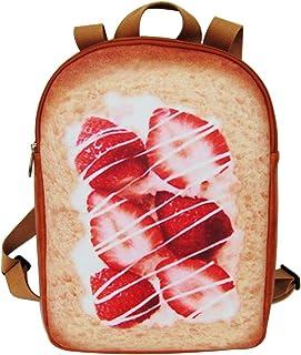 Kemelo Fashion Toast Zaino Borsa da Scuola Zaino Casual Zaino da College per Adolescenti, Zaino da Uomo,1