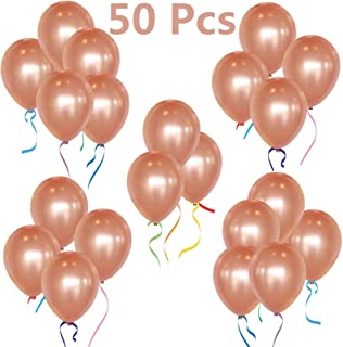 "50pcs/pack 12"" Rose Gold Latex Balloons for Birthday Wedding Party Bridal Baby Shower Decorations"