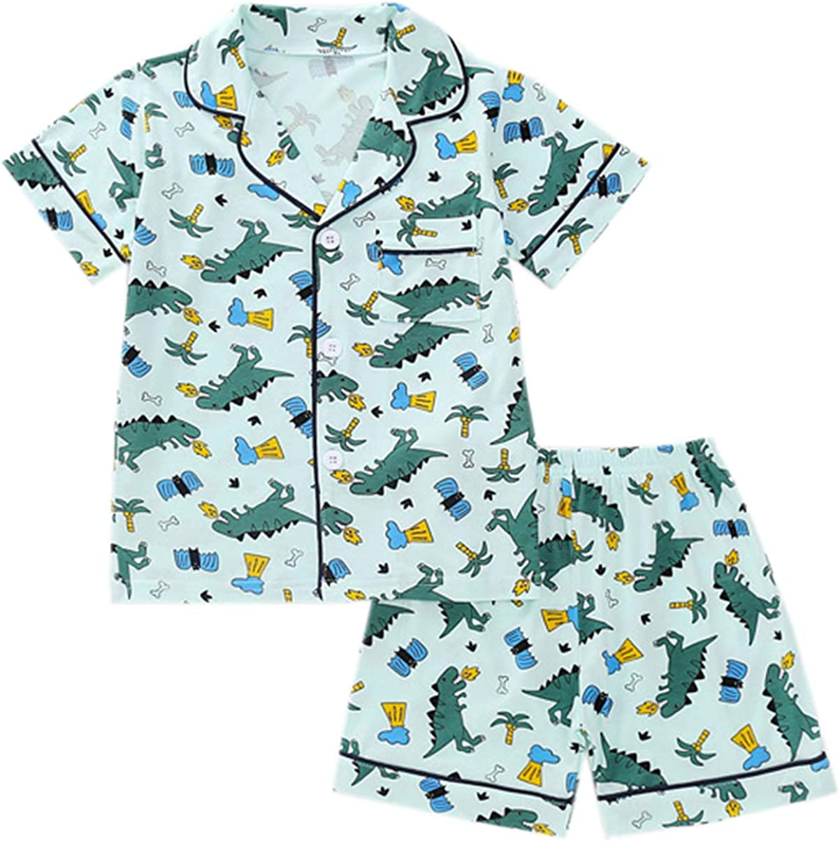 12 Months Betusline Kids Boys Girls Cartoon Pajamas Set 10 Years
