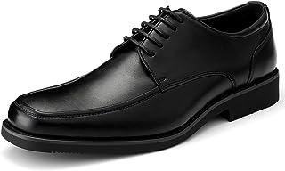 [GOLAIMAN] ビジネスシューズ メンズ 革靴 紳士靴 外羽根 レースアップ ビジネス 靴 シューズ 黒