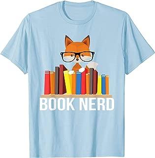 Book Nerd Fox Animal Lovers Cute Funny Reading Geek T-Shirt