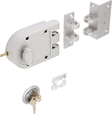 Guard Security Heavy Duty Jimmy Proof Deadbolt Door Lock, Silver, Single Cylinder with Key Entry #44861