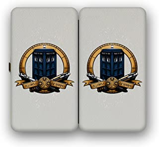 Taiga Hinge Wallet Clutch - 6 Eyed Monster - Time Travelling Police Box