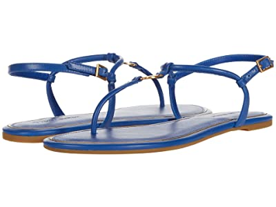 Tory Burch Emmy Flat Sandal (Nautical Blue) Women