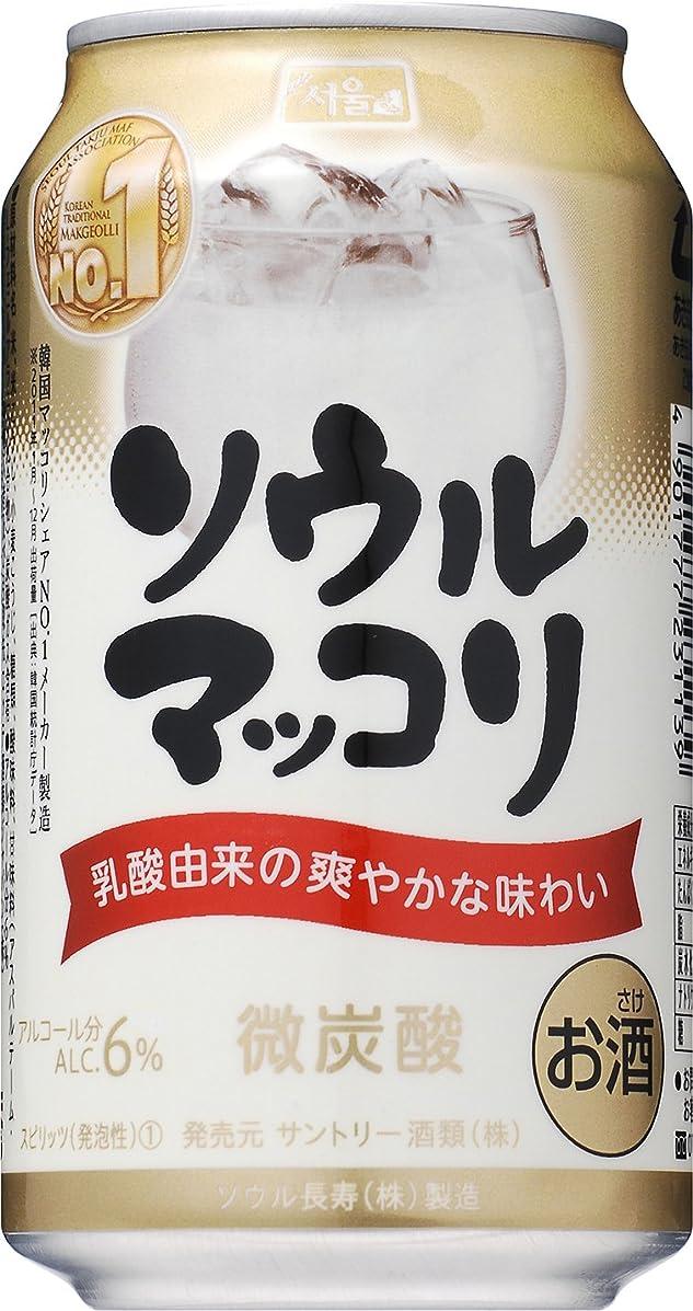 ヒョウ木主導権サントリー ソウルマッコリ [ リキュール 350mlx24本 ]
