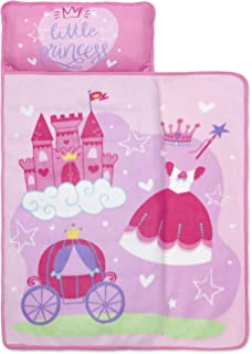 Baby Boom Funhouse Little Princess Kids Nap Mat Set – Includes Pillow and Fleece Blanket – Great for Girls Napping During ...