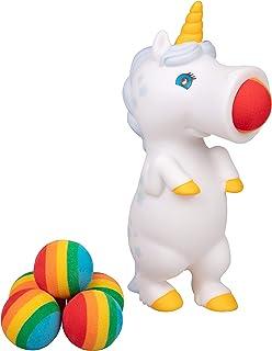 Hog Wild White Unicorn Popper Toy – Shoot Foam Balls Up to 20 Feet – 6..
