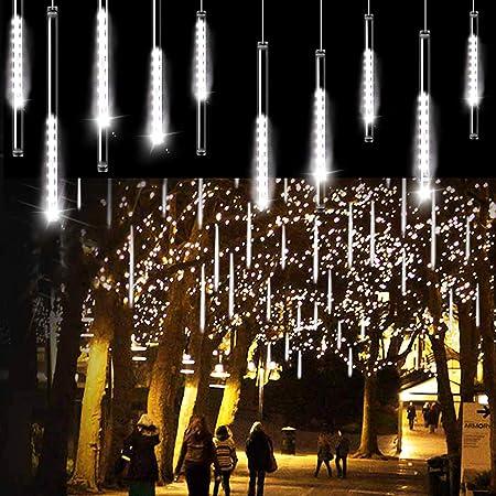 New 144 LED Solar Meteor Shower String Lights Tree Lamp Christmas Decoration